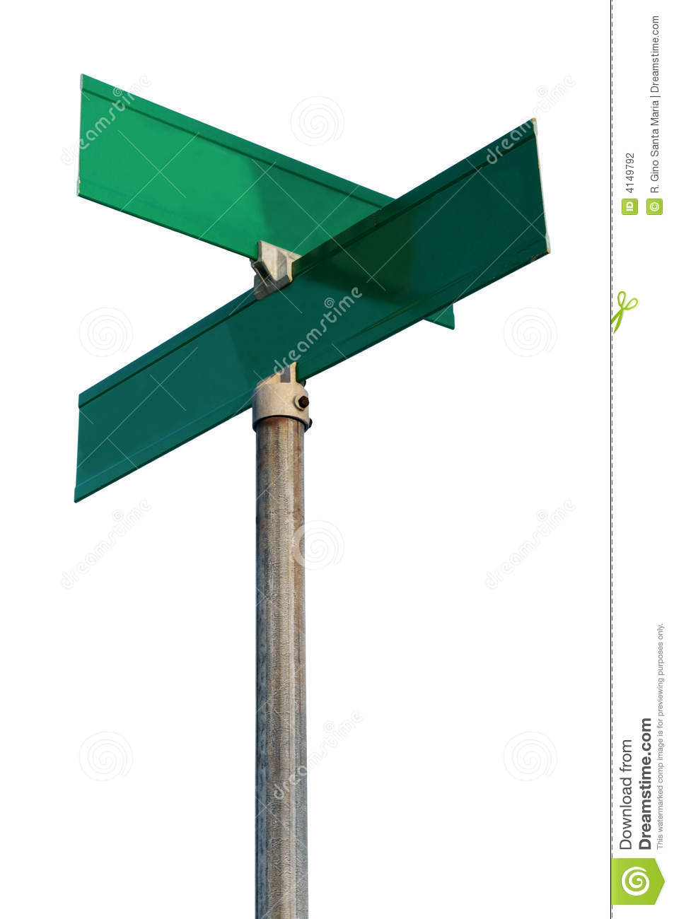 empty street signs stock photo image of intersection