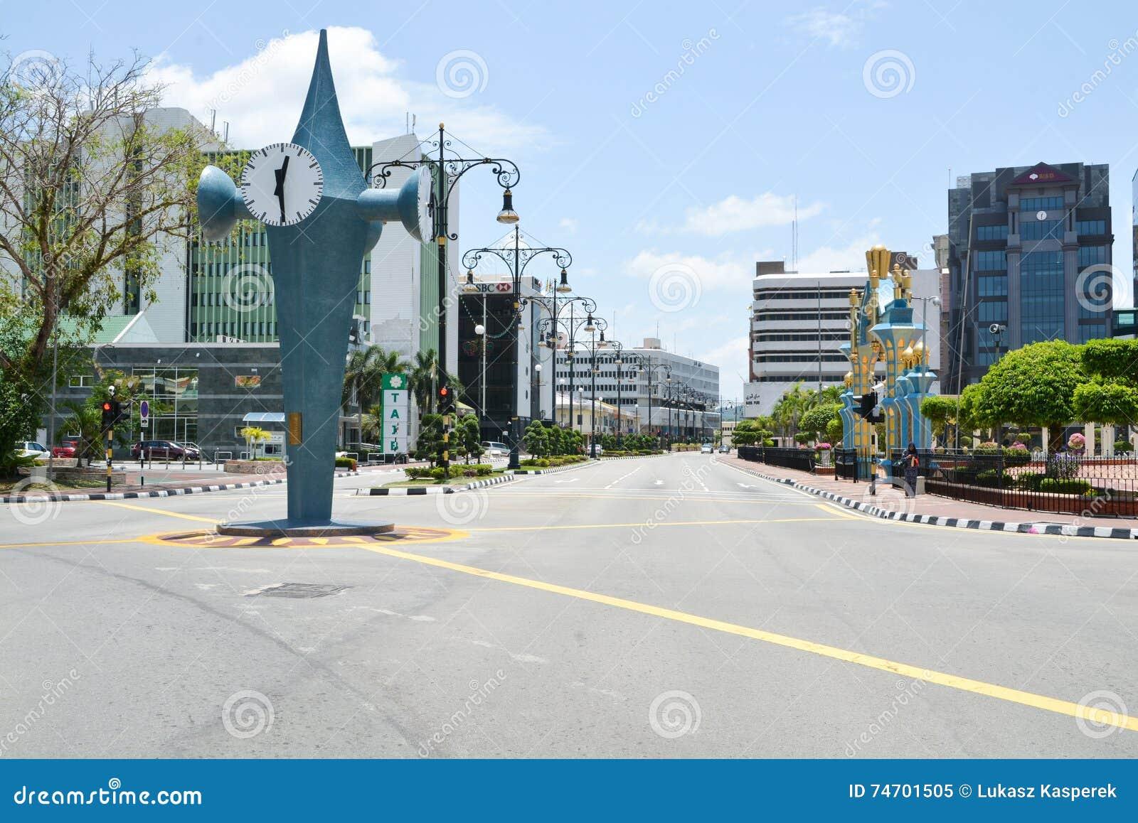 Empty Streets Of Bandar Seri Begawan, Brunei Editorial Image