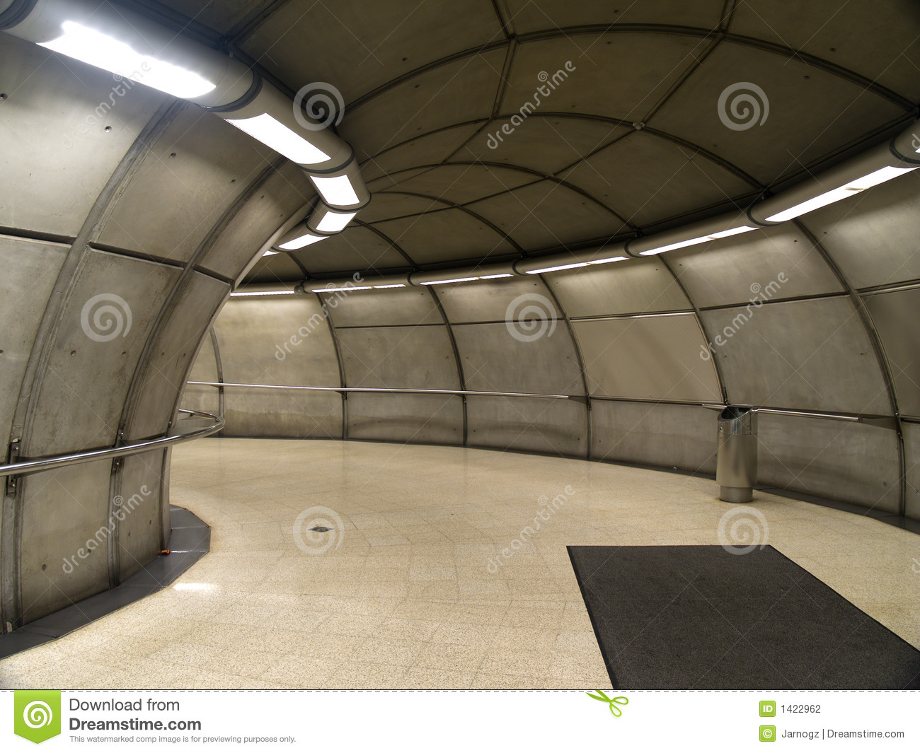 empty subway station in bilbao stock photography - image: 1422962