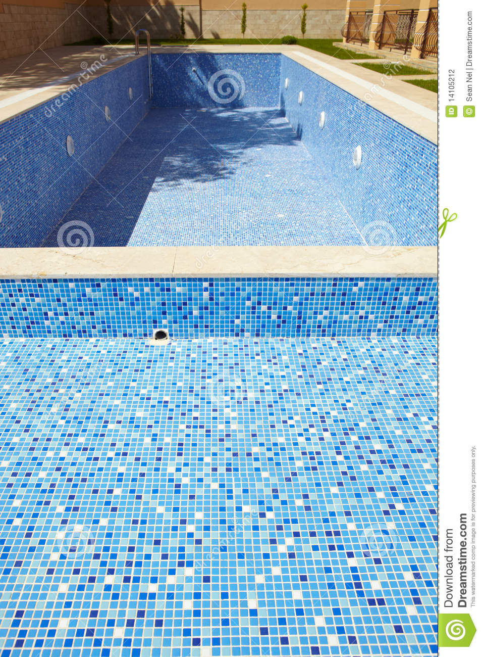 Empty swimming pool stock photography image 14105212 for Empty swimming pool