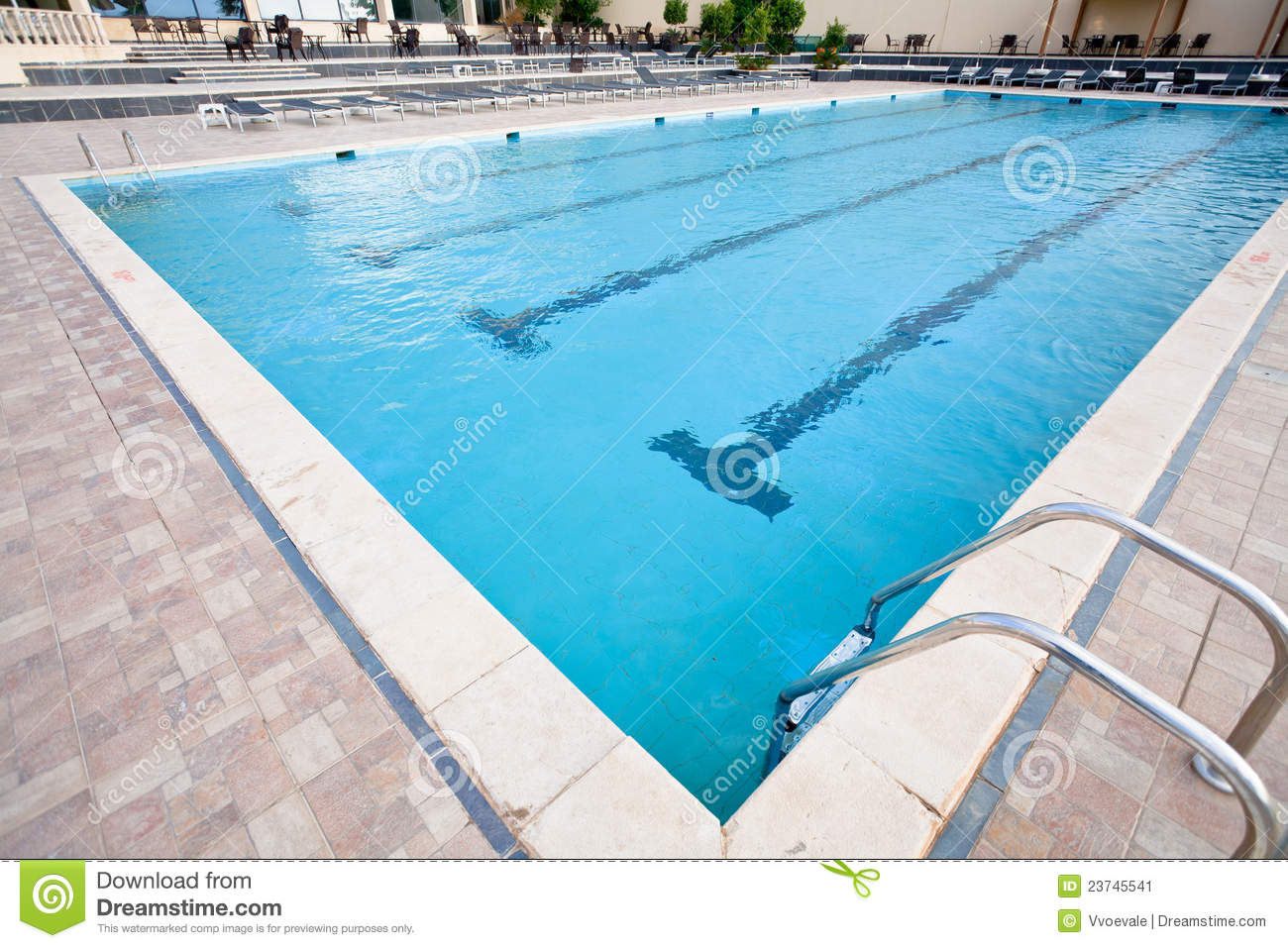 Empty Swimming Pool Stock Image Image 23745541