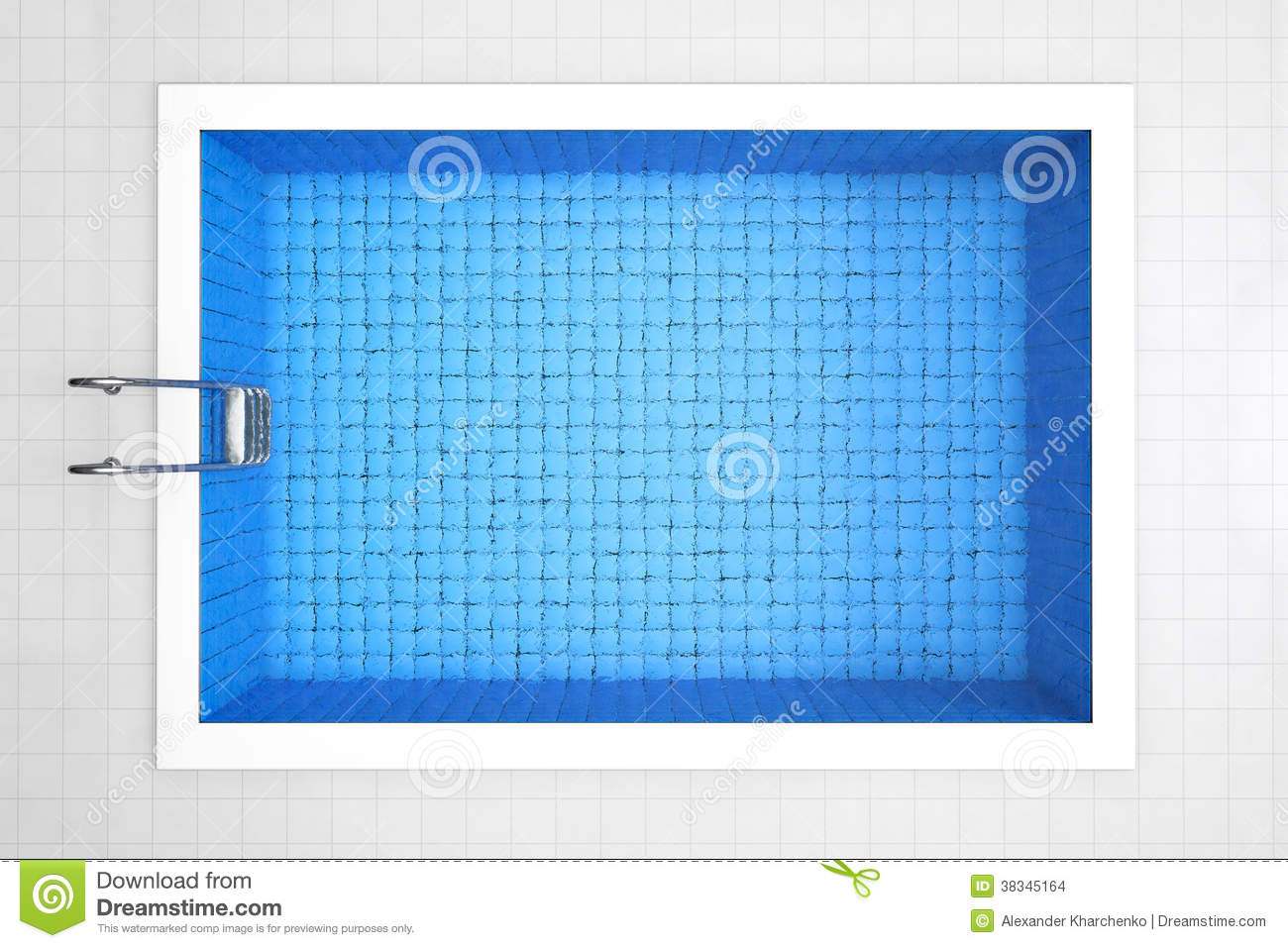 Empty Swimming Pool Top View Stock Images Image 38345164