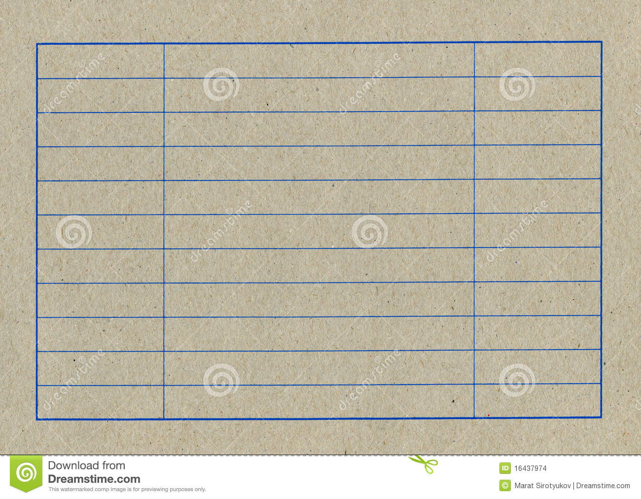 Empty Table Of A Cardboard Stock Images Image 16437974