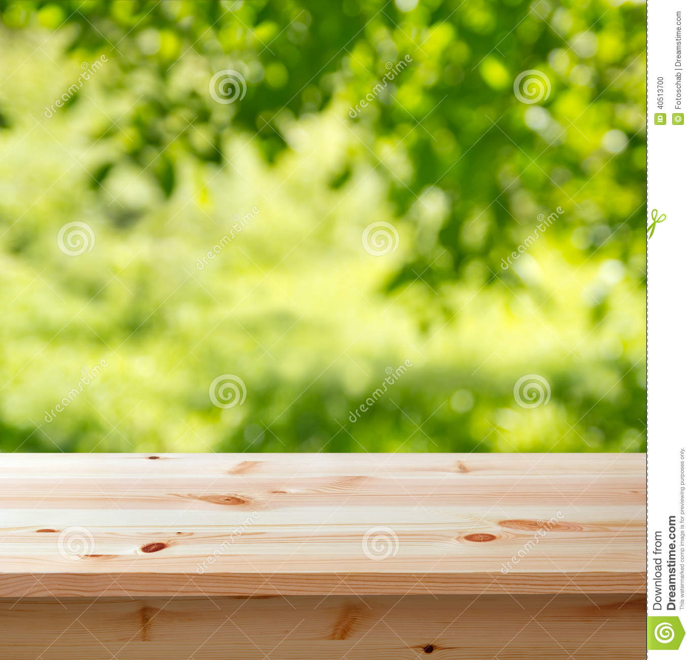 Empty Table In The Garden Stock Photo - Image: 40513700