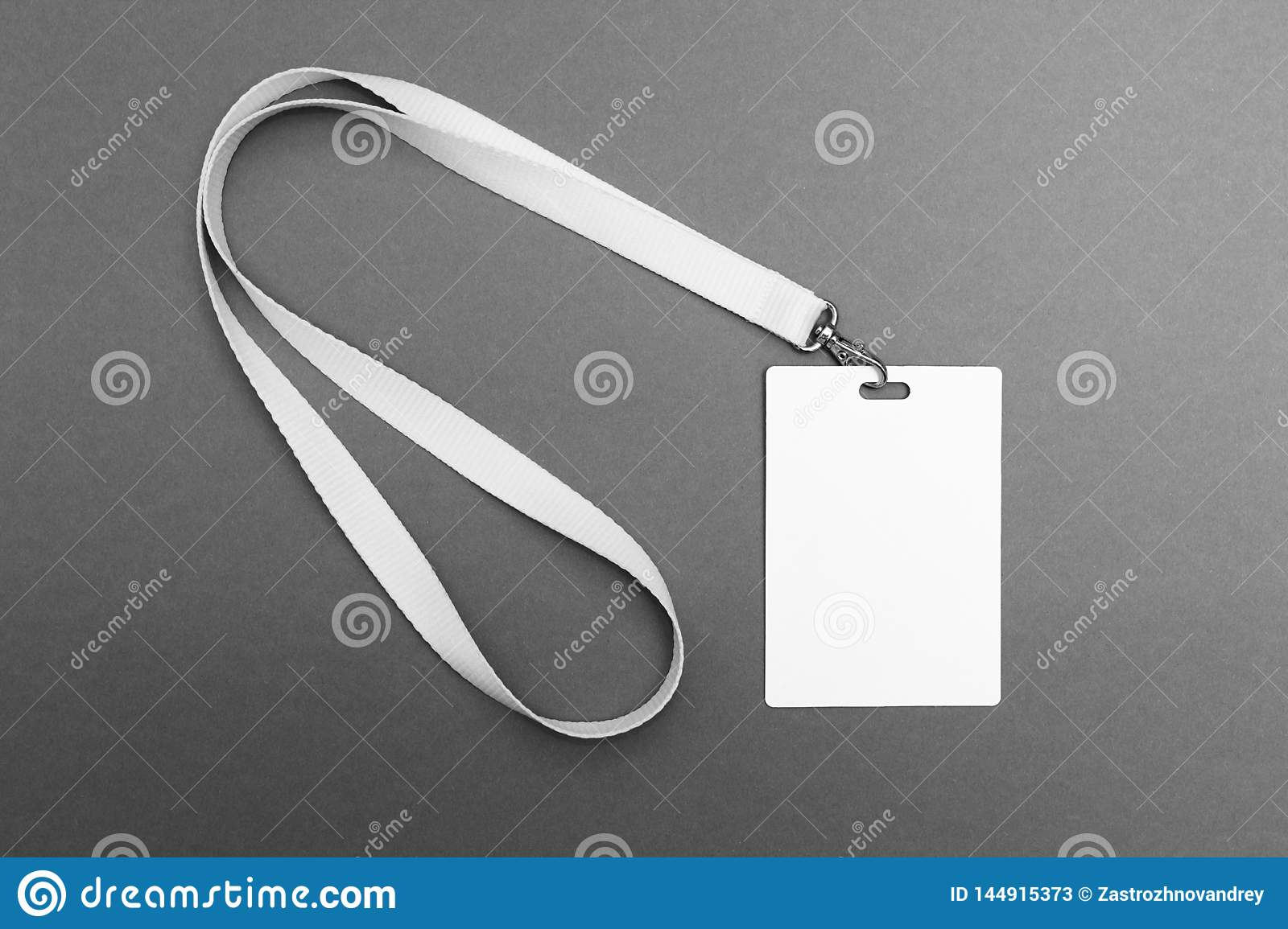 Empty Tag id on a gray background
