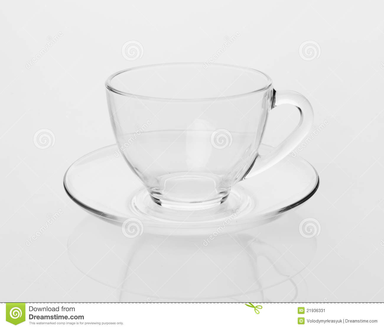 Empty Tea Cup And Saucer Stock Image - Image: 21936331