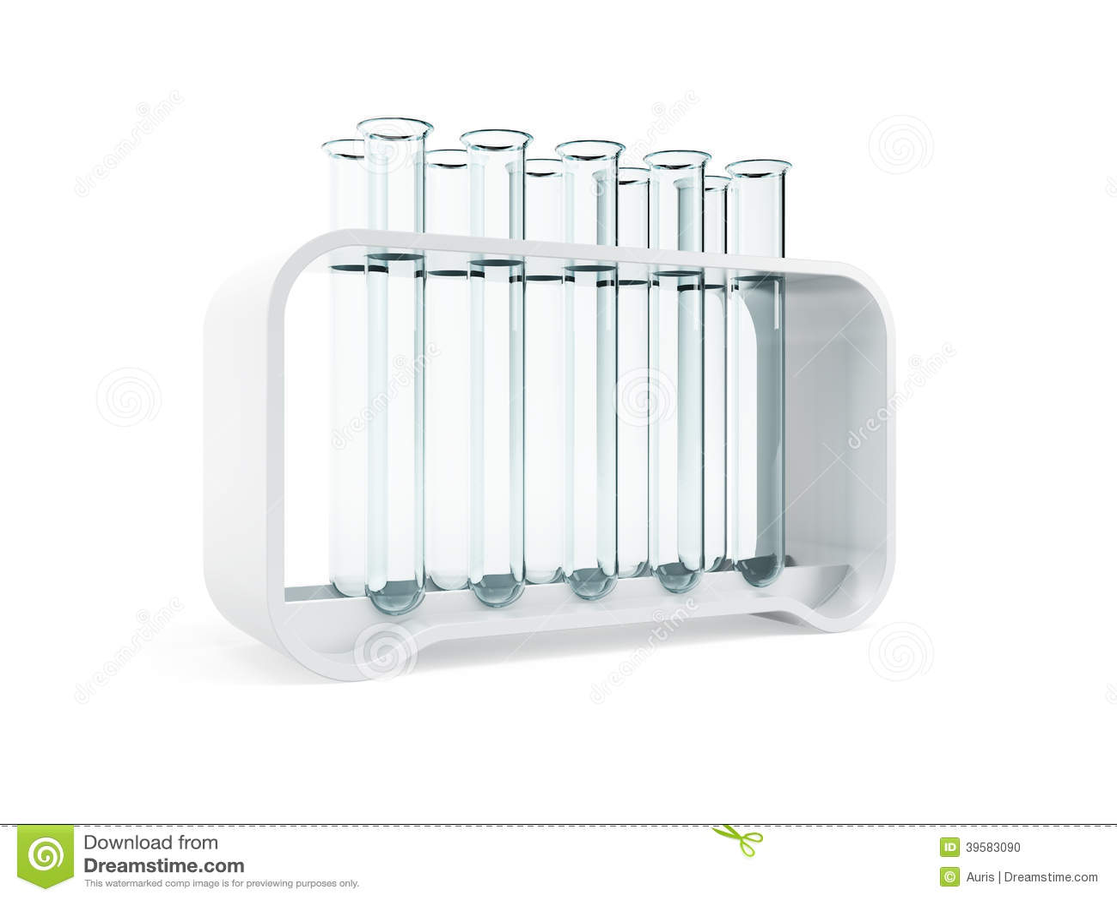 Empty test tubes