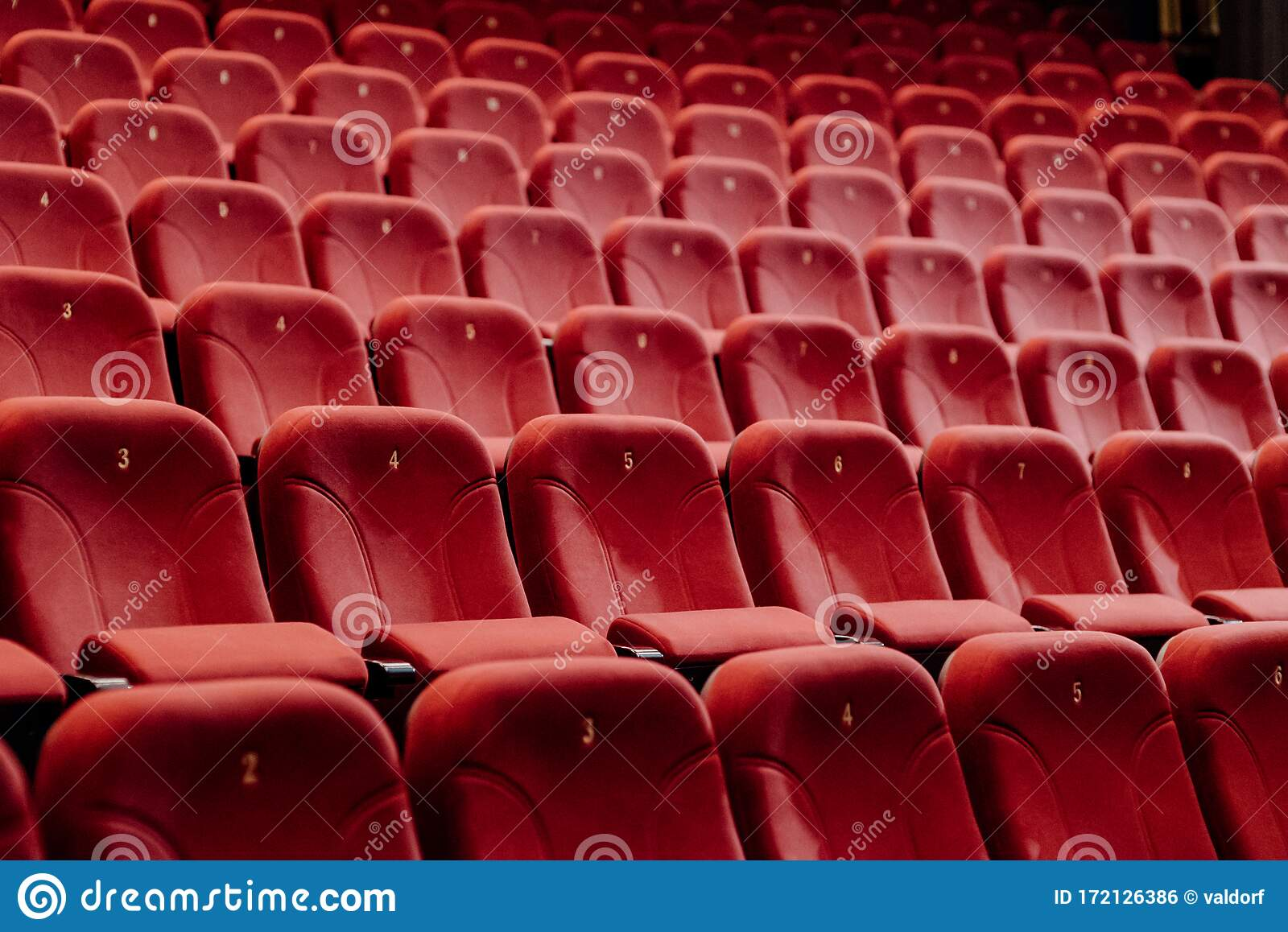 Empty Theater Chairs In The Theater Stock Photo Image Of Premiere Movie 172126386