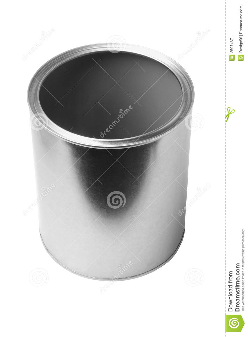 Empty Tin Can Stock Photography: Empty Tin Can Stock Image