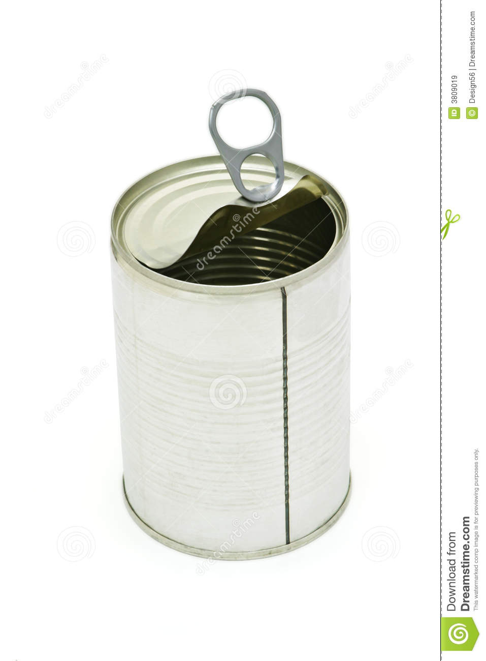 Empty Tin Can Stock Photography: Empty Tin Can Royalty Free Stock Images