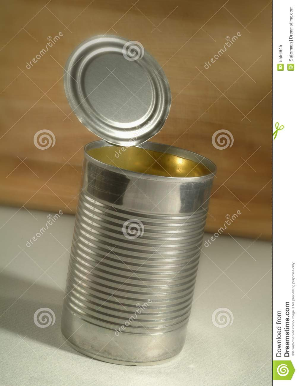 Empty Tin Can Stock Photography: Empty Tin Can Royalty Free Stock Photo