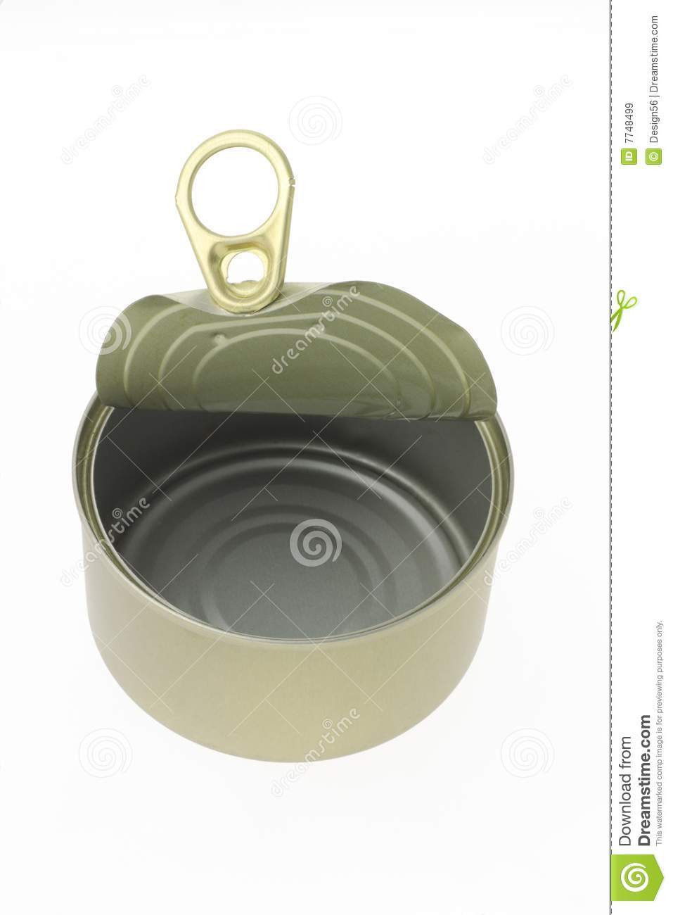 Empty Tin Can Stock Photography: Empty Tin Can Stock Image. Image Of White, Isolated, Metal