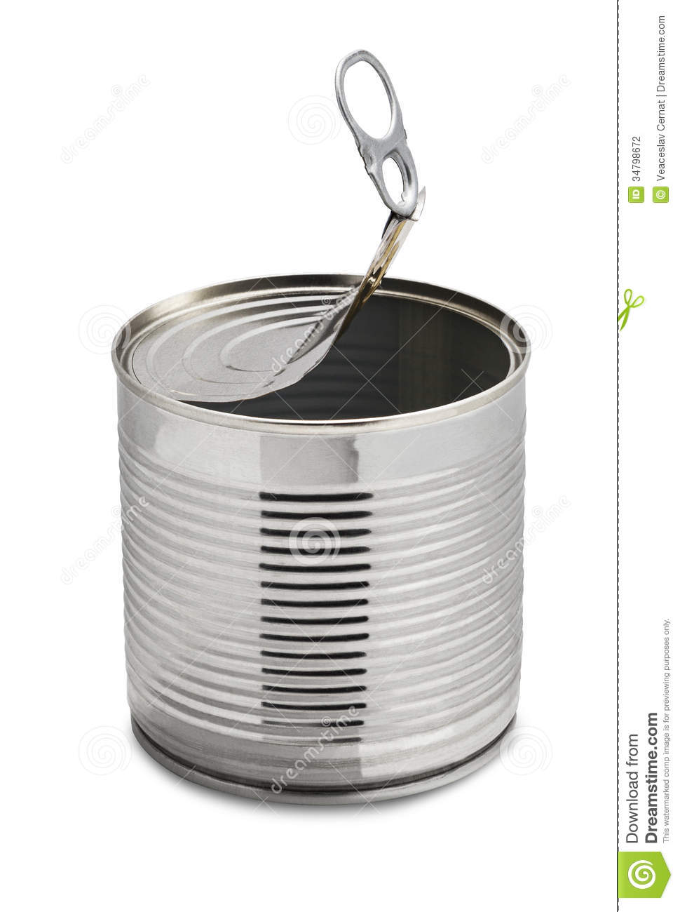 Empty Tin Can Stock Photo Image Of Empty Silver Objects