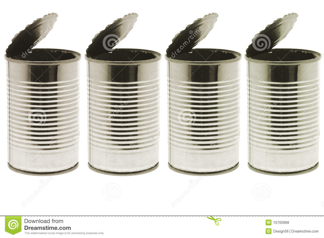 empty tin cans stock photo image of blank background