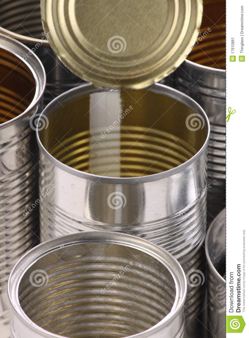 Empty Tin Can Stock Photography: Empty Tin Cans Stock Image
