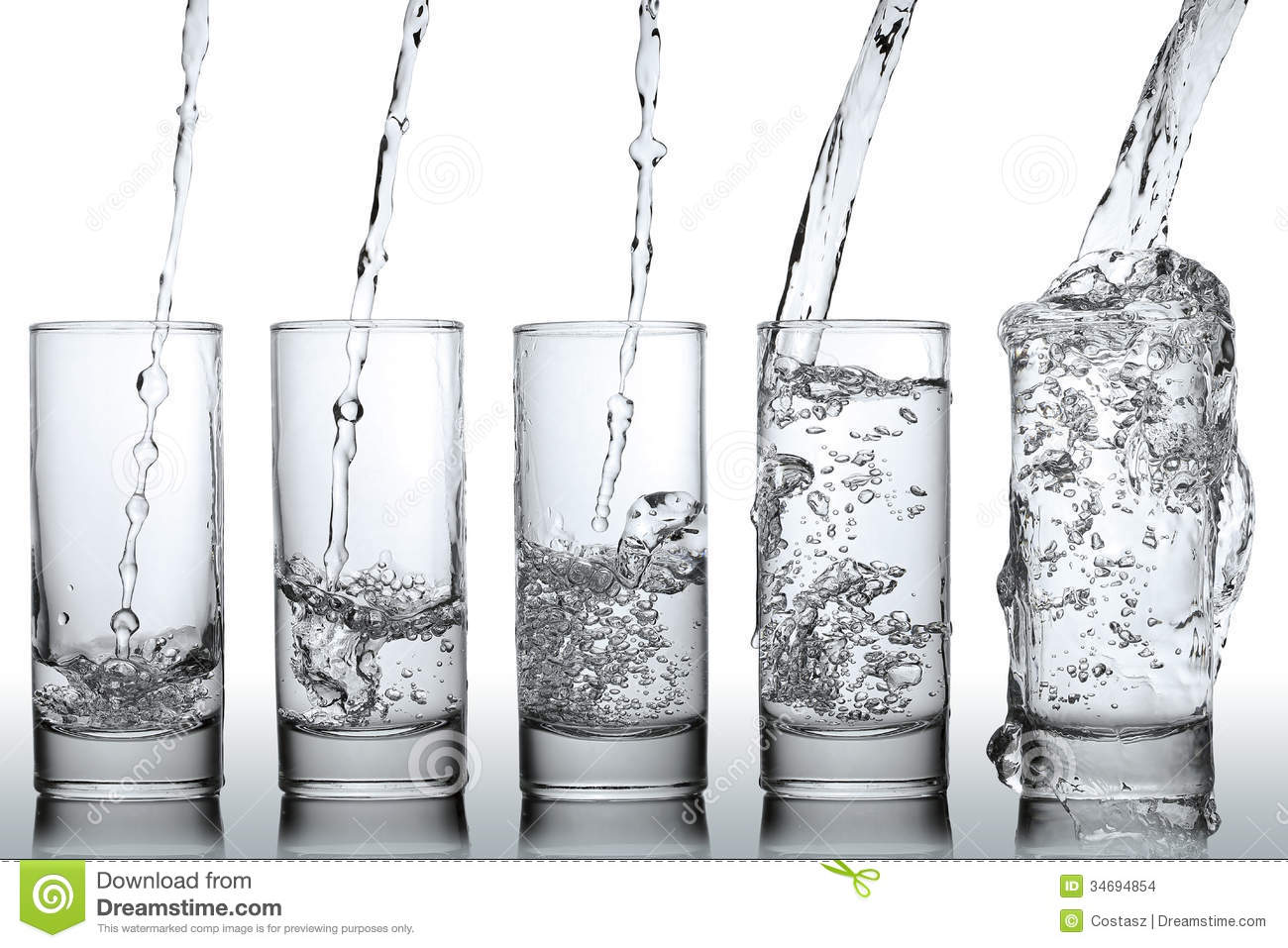 Someone Drinking A Glass Of Water