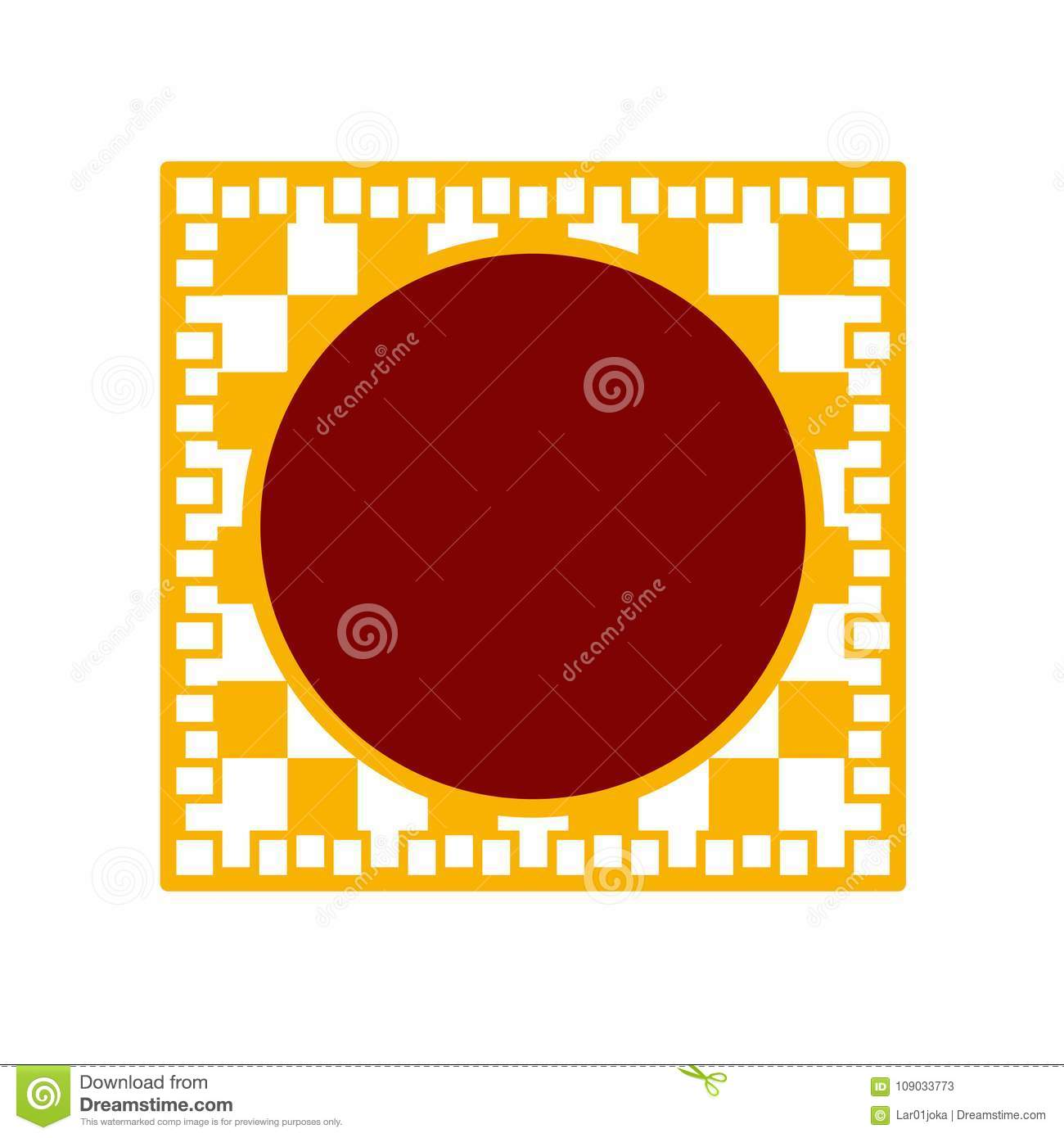 empty traditional label chinese new year vector illustration design