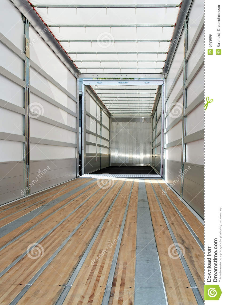 Empty trailer vertical royalty free stock images image for L interieur trailer