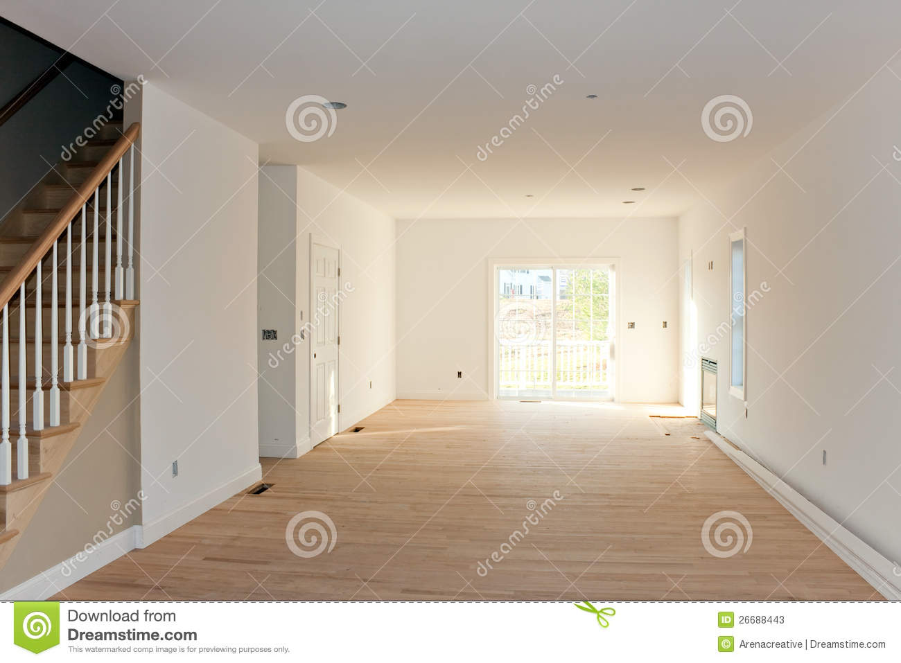 Empty Unfinished Home Interior Stock Photos Image 26688443
