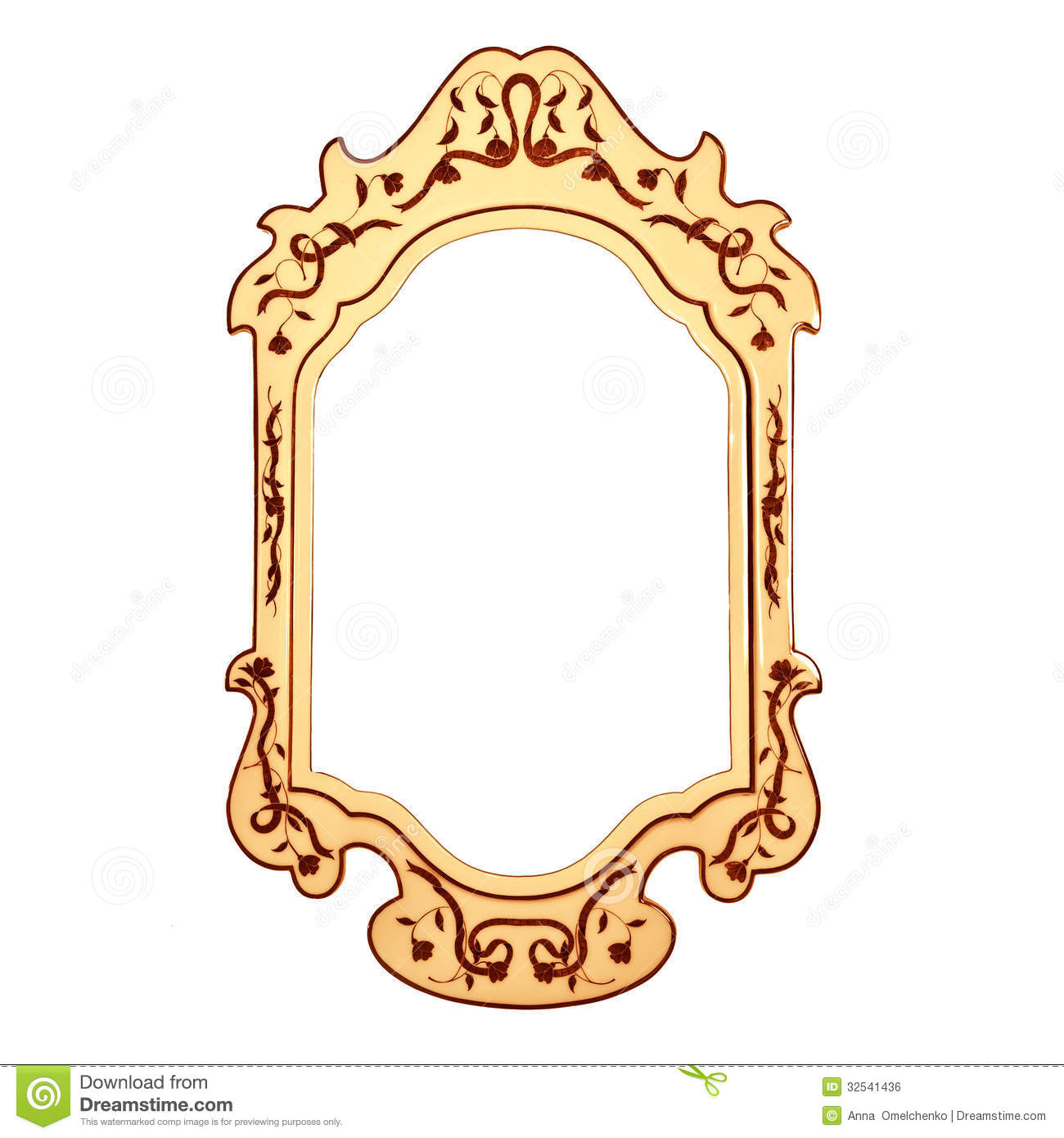 Empty Vintage Mirror Frame Stock Photo Image Of Border