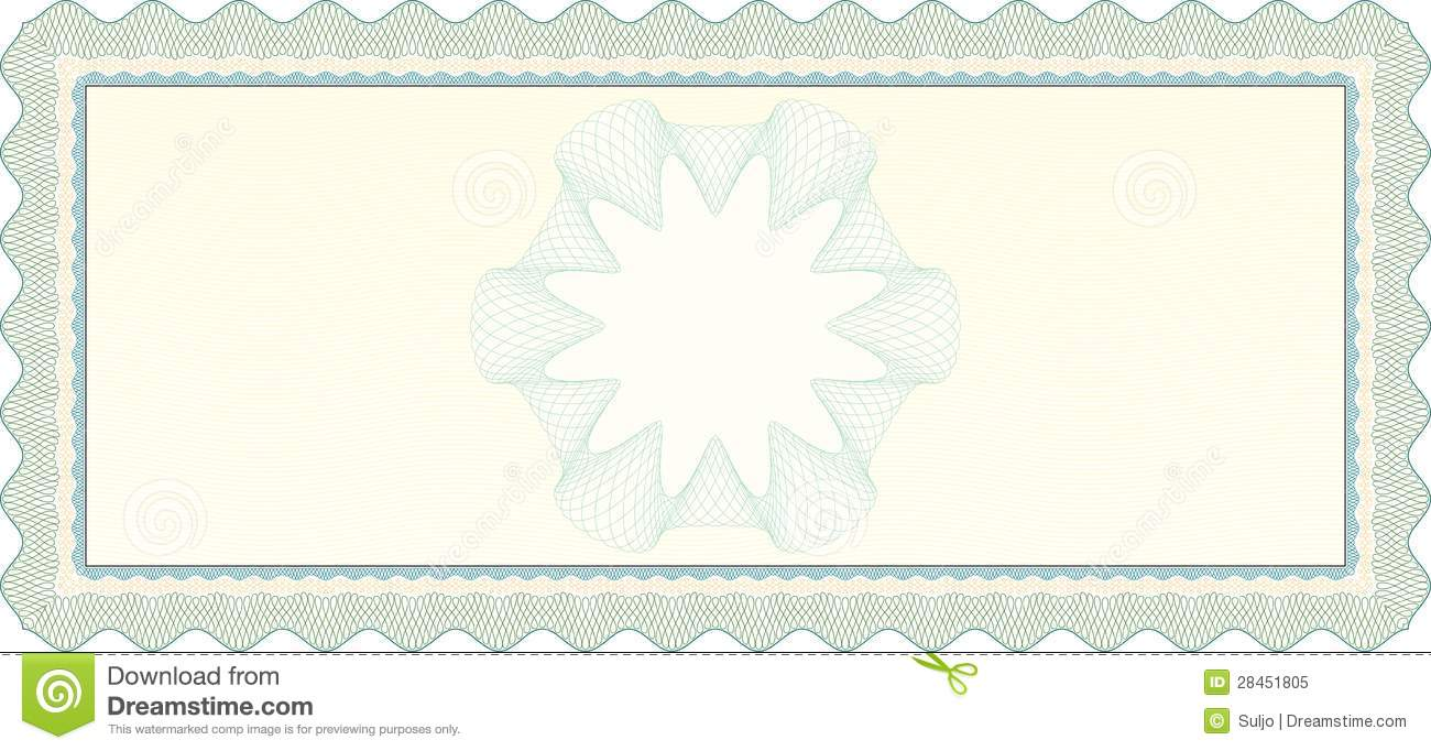 Empty Voucher Coupon stock vector. Illustration of check ...