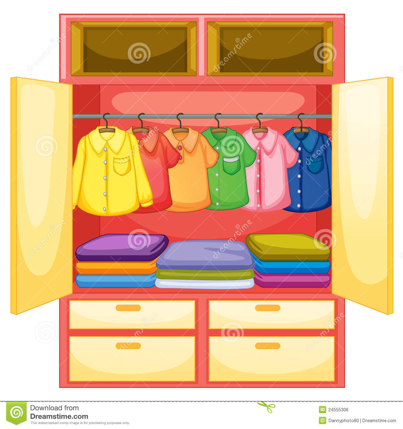 Empty Wardrobe Royalty Free Stock Image - Image: 24555306