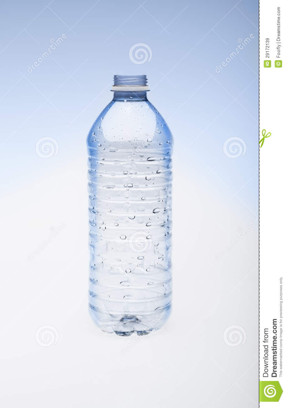 80190dcf28 Empty Water Bottle Without Cap Stock Image - Image of liquid, white ...