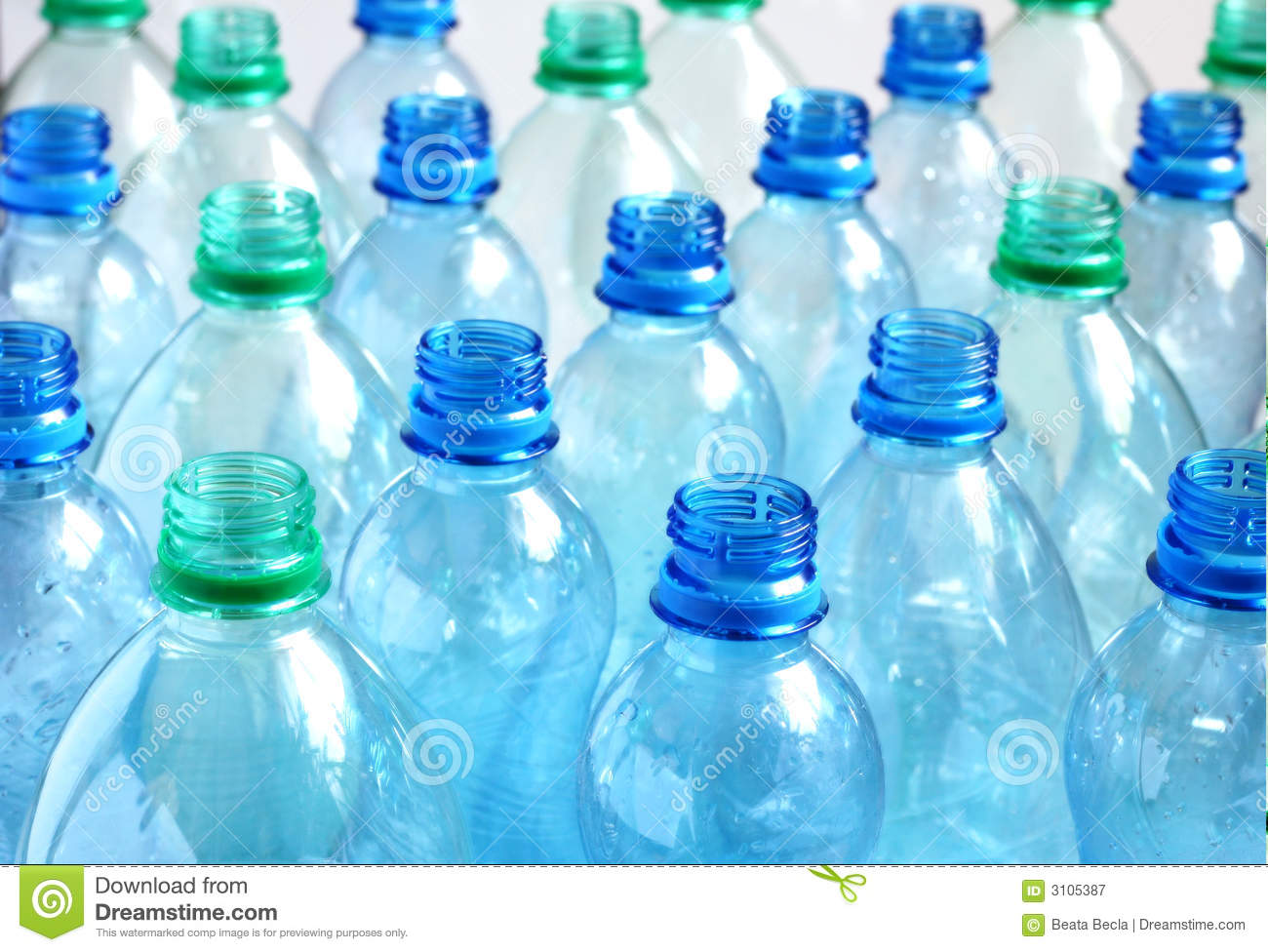 Empty water bottles stock image. Image of open, pure ...