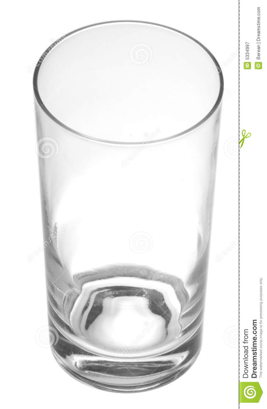 Empty water glass stock image. Image of isolated, drinking ...