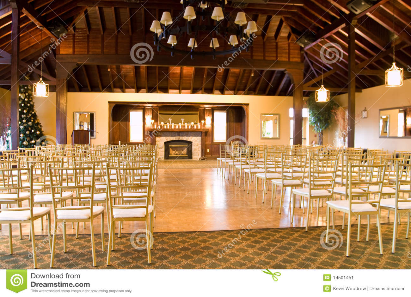 Empty Wedding Reception Hall Stock Image Image 14501451