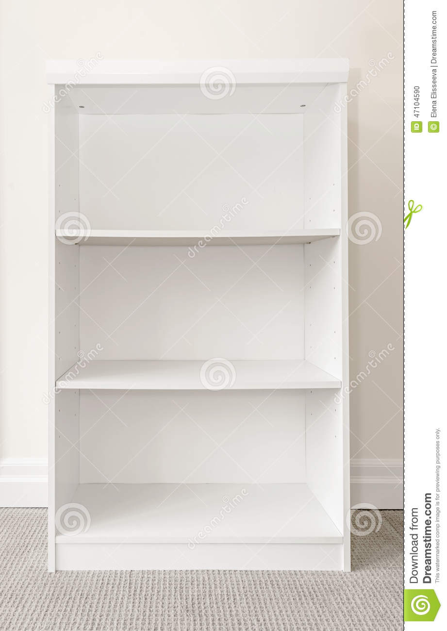 empty white bookshelf stock photo  image  - bookshelf close empty room wall white