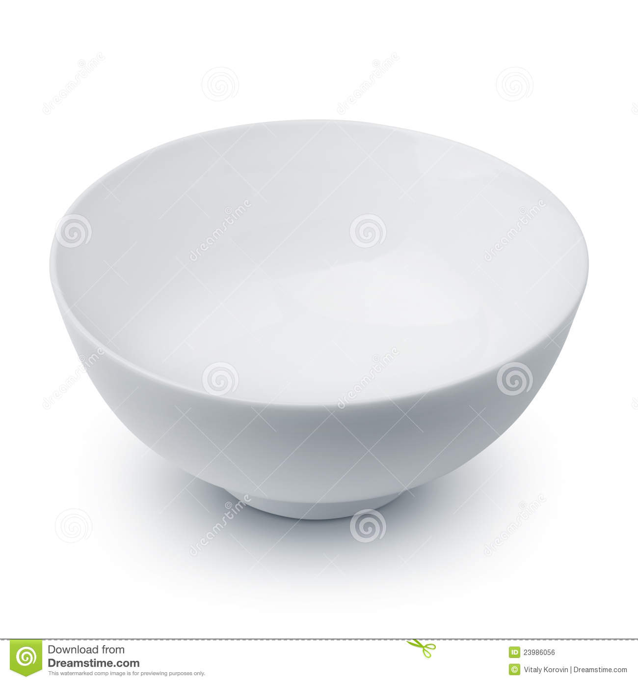 An empty white bowl