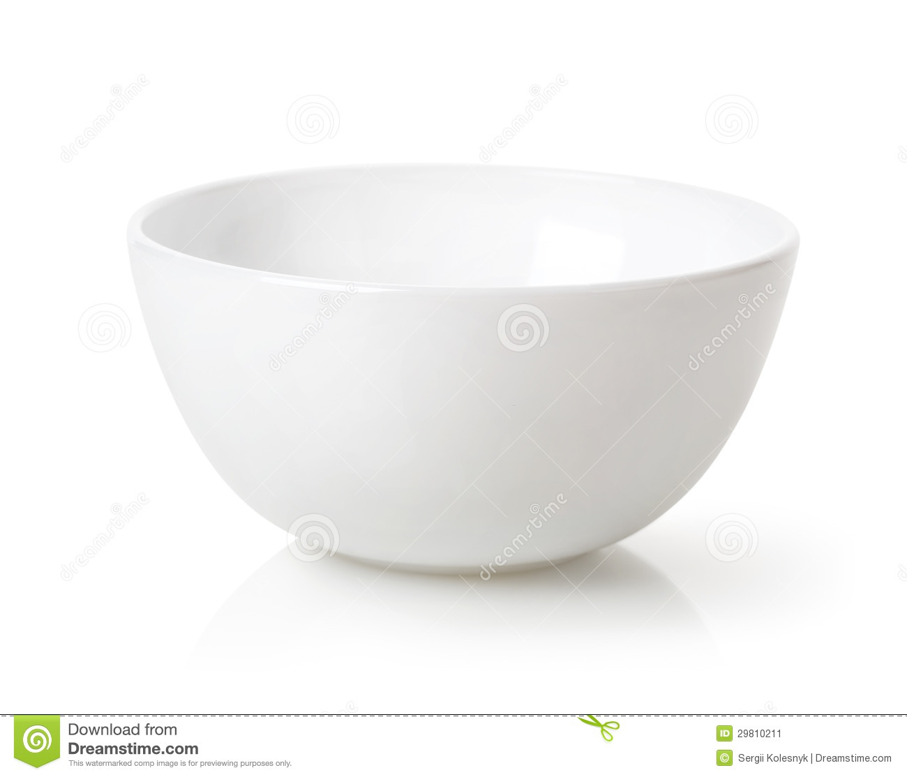 Empty White Bowl Stock Image Image Of Horizontal Object