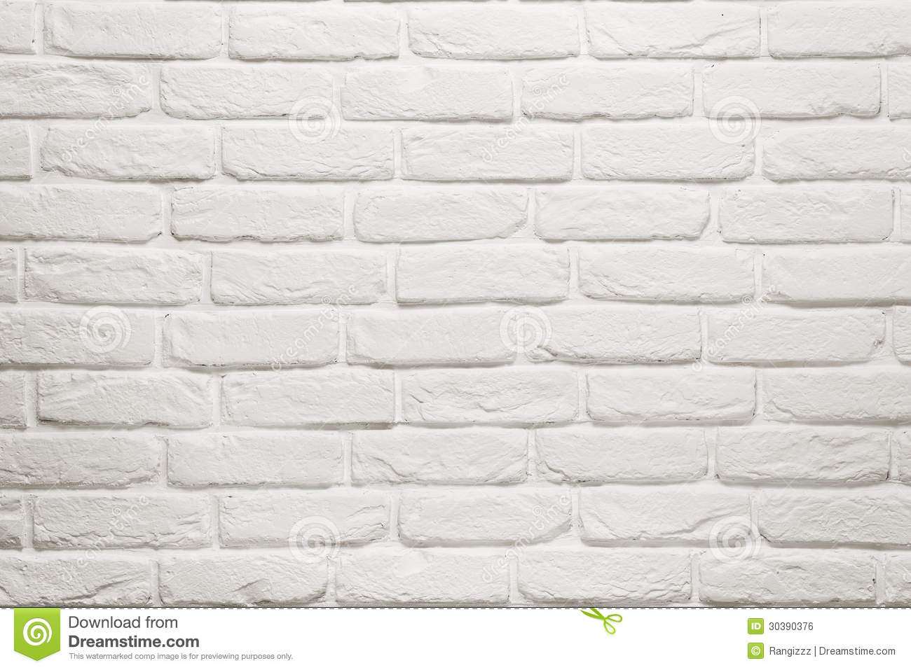 Empty White Brick Wall Stock Photo Image Of Clean