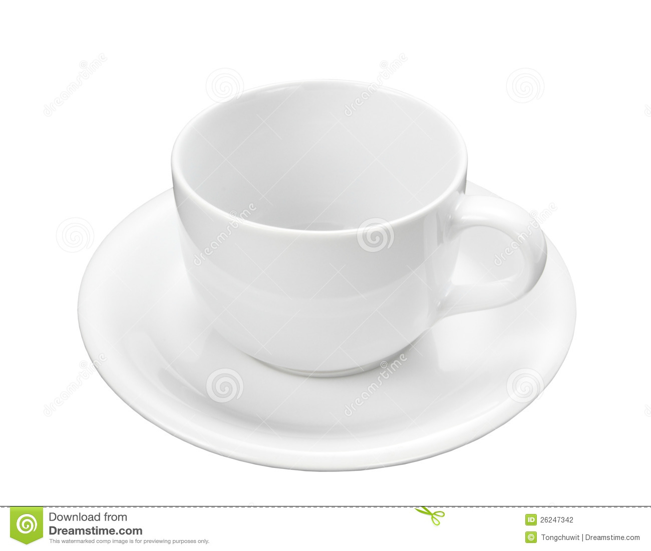 Empty White Coffee Cup Stock Photography Image 26247342