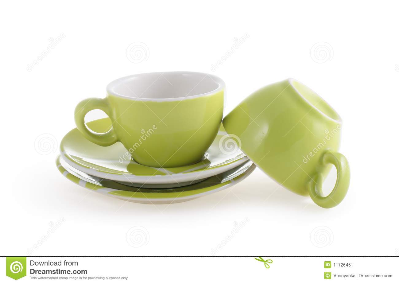 Empty White Coffee Cups Stock Image Image 11726451