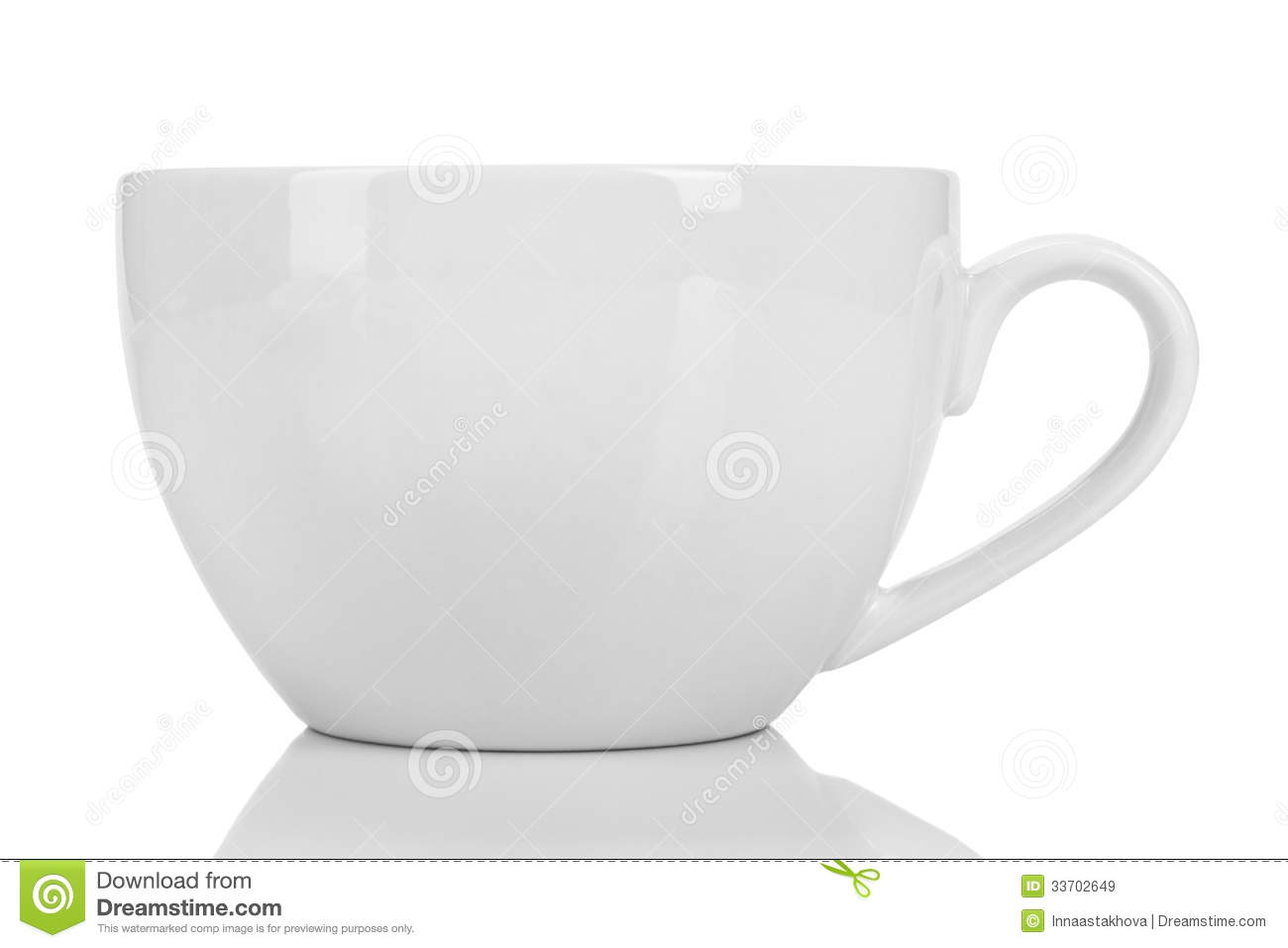 Empty White Cup Royalty Free Stock Images - Image: 33702649