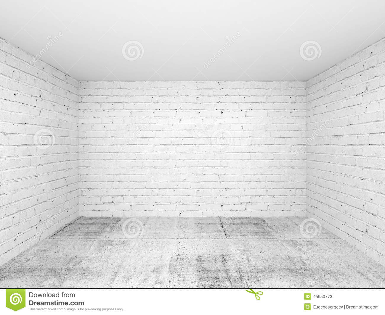 House Ceiling Material Empty White 3d Room Interior Background Stock Illustration ...