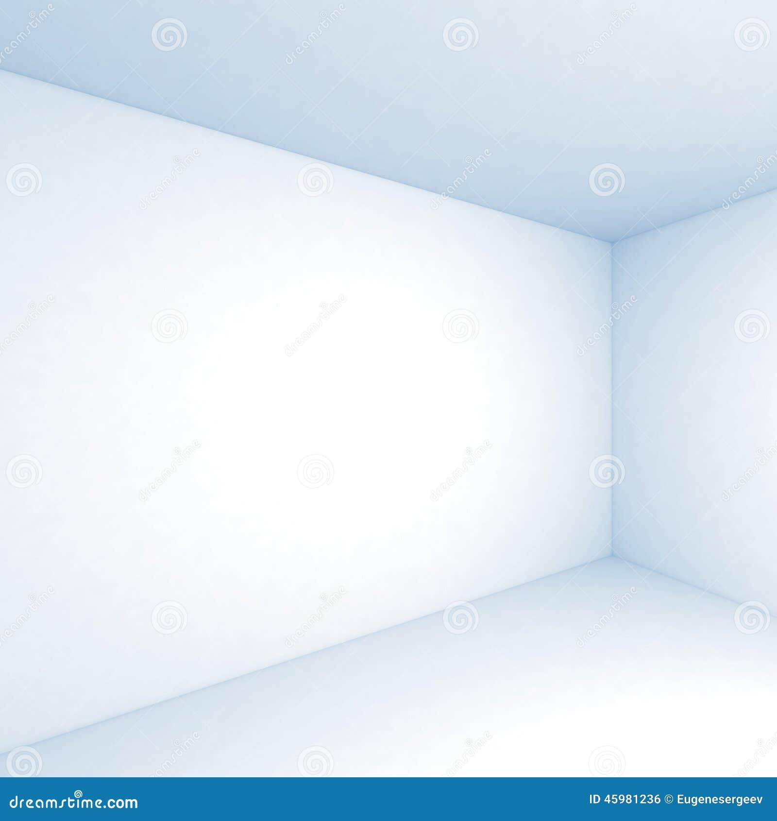 Empty White 3d Room Interior Square Background Stock