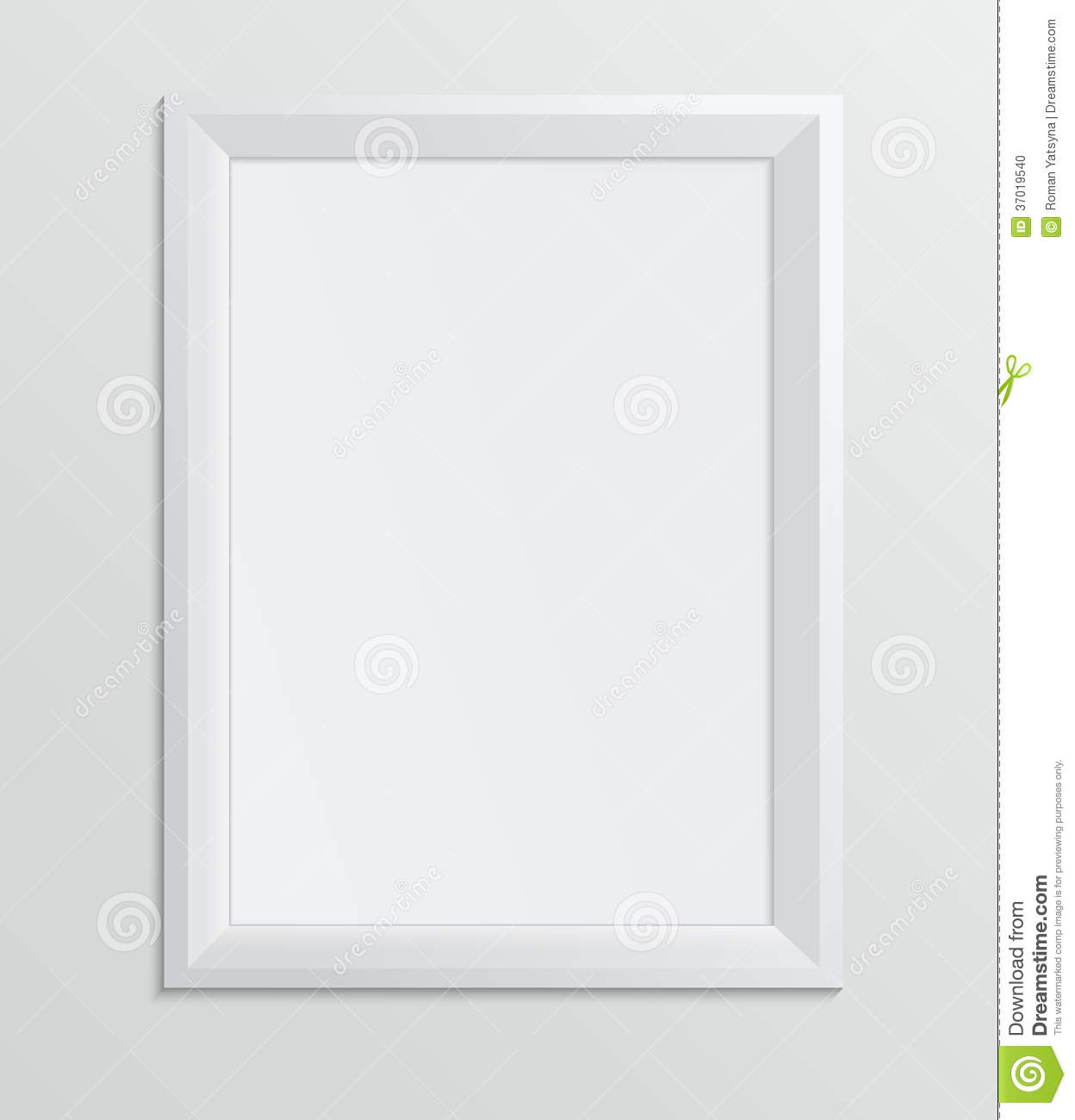 Empty White Frame On A White Background, Design A4 Stock Photo - Image ...