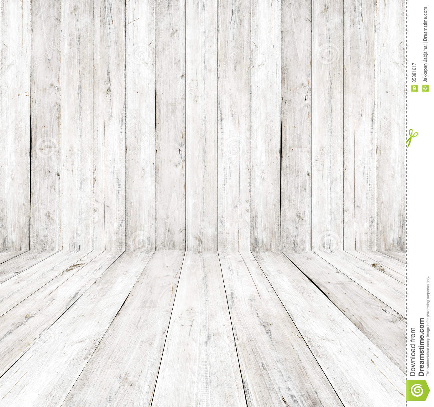 empty a white interior of vintage room gray wooden wall and old wood floor stock image. Black Bedroom Furniture Sets. Home Design Ideas