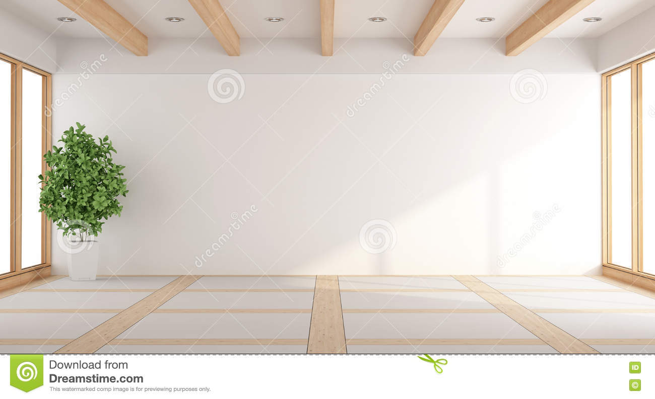 Empty White Living Room Stock Illustration Image Of