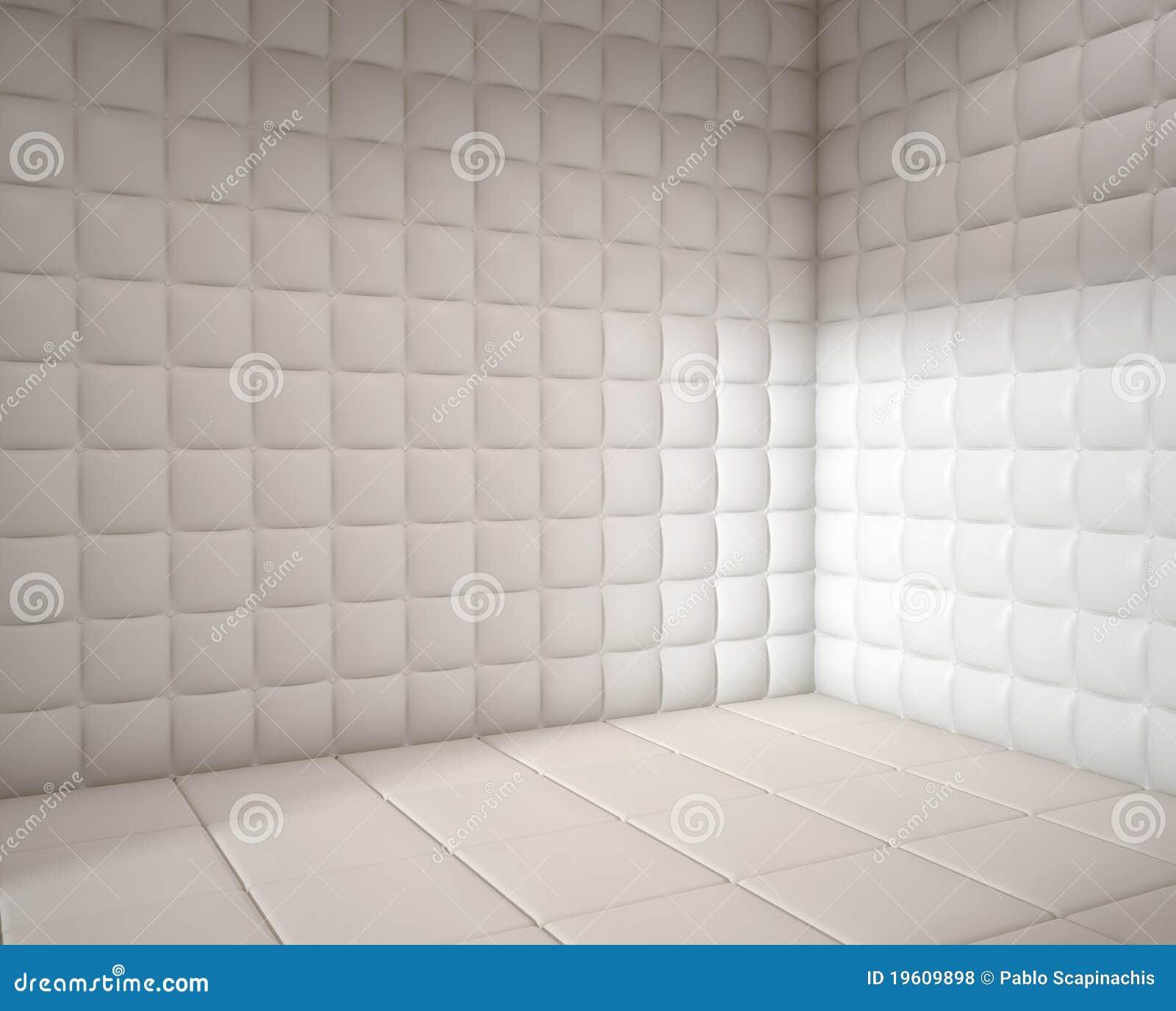 Empty White Padded Room Royalty Free Stock Photos - Image: 19609898