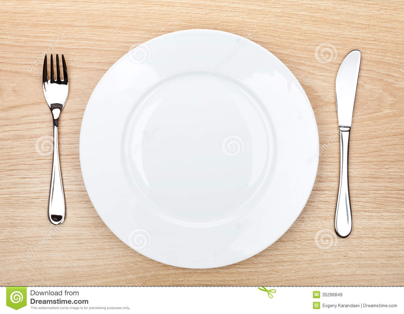 ... Silverware On Wooden Table Royalty Free Stock Images - Image: 35296849