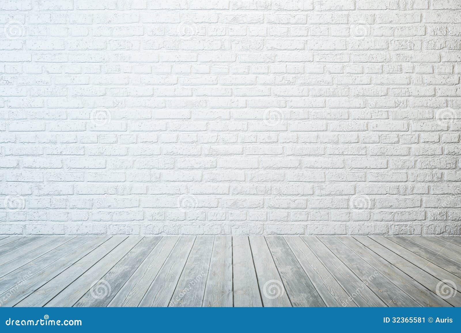 Empty room with white brick Empty Brick Wall