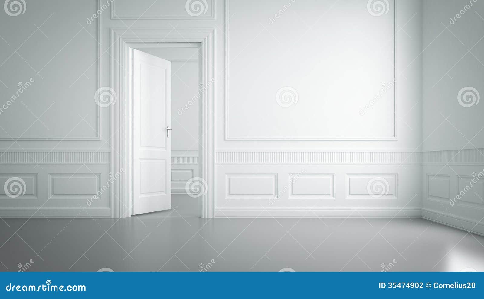 Empty White Room Stock Photo Image Of Nobody Concept