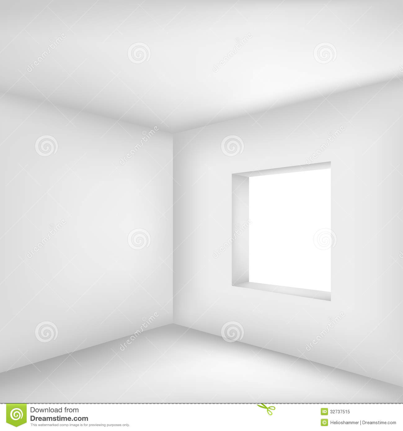 Empty office room with window - Empty White Room Royalty Free Stock Photo Image 32737515