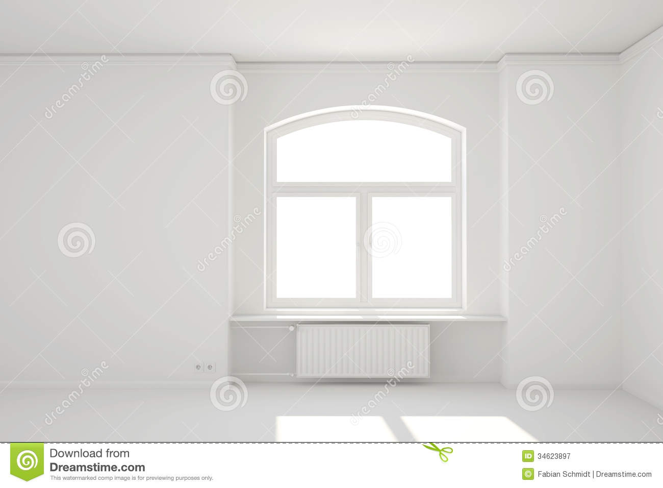 White window curtains - Empty Room With Window Curtains Empty White Room With Window