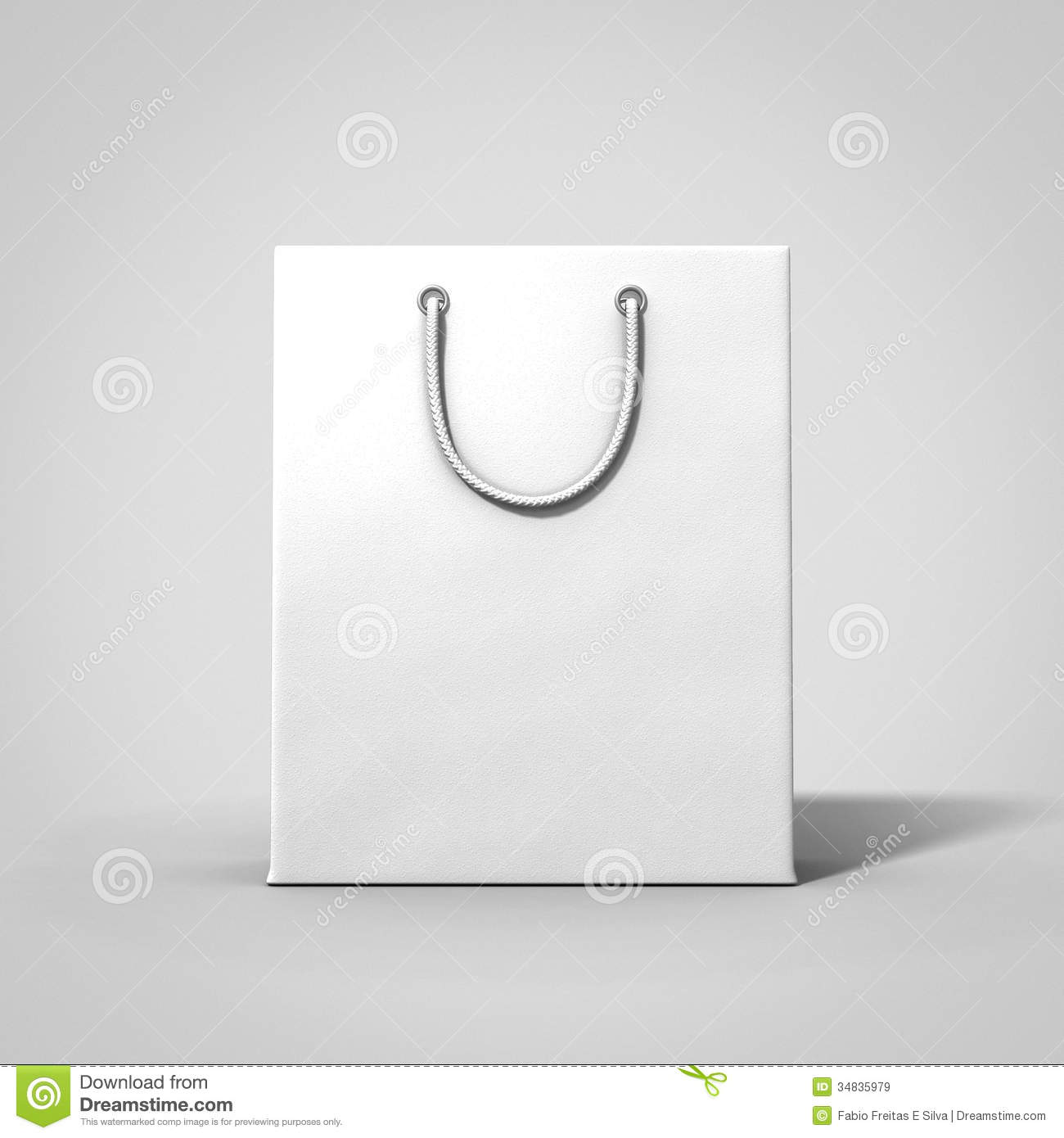 Empty White Shop Bag Royalty Free Stock Images - Image: 34835979