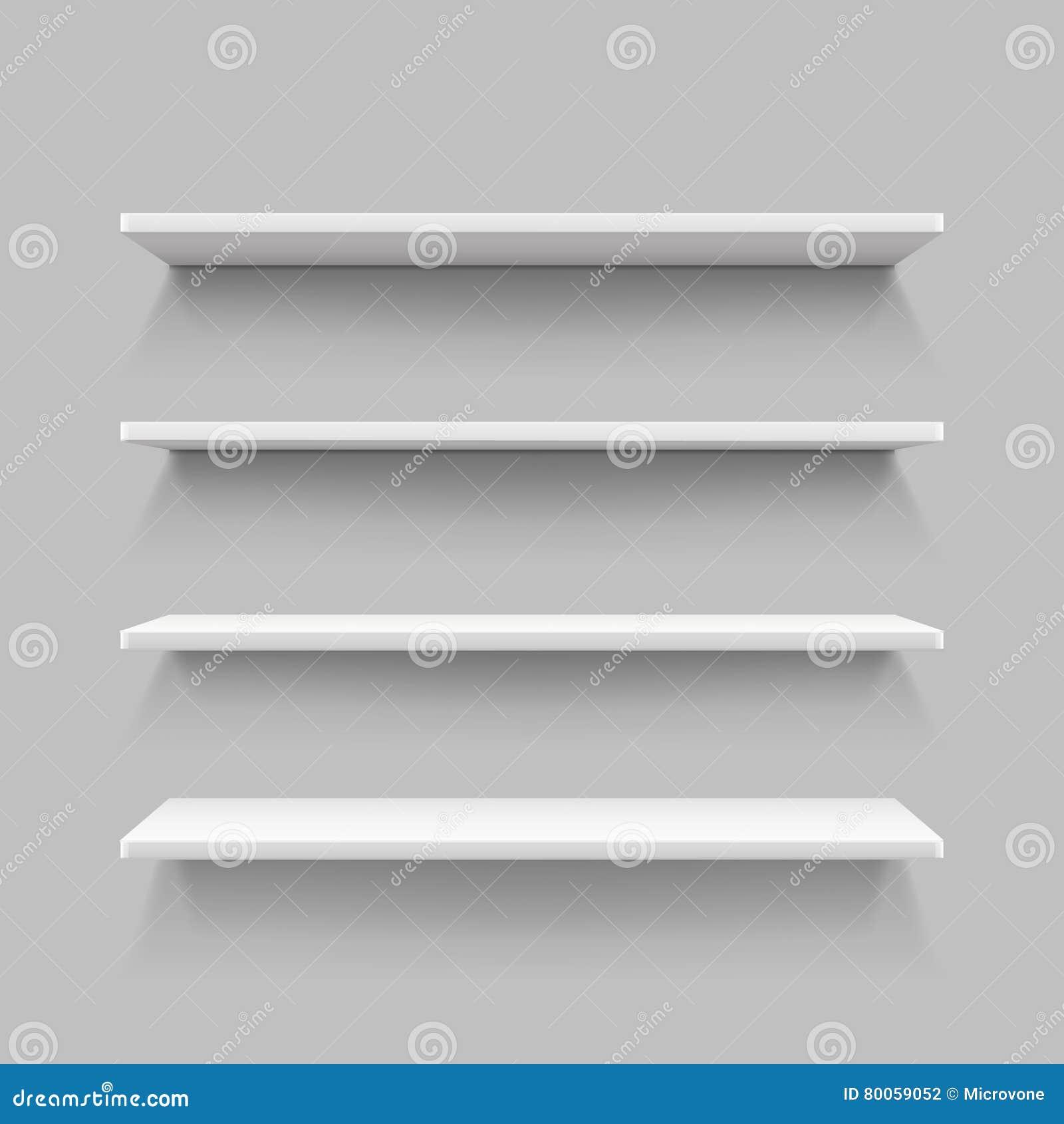 empty white shop shelf retail shelves 3d store wall. Black Bedroom Furniture Sets. Home Design Ideas